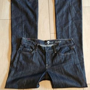 7 for all mankind dark bootcut jeans 28 x 36